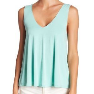 Abound Green Double-V Swing Tank Top
